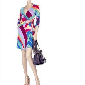 Diane Von Furstenberg WONDER WOMAN dress sz 8 RARE